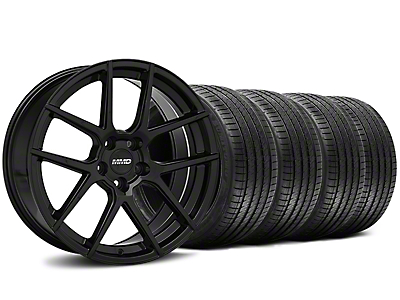 Staggered MMD Zeven Black Wheel & Sumitomo Tire Kit - 20x8.5/10 (15-17 All)