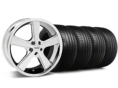 Nova Chrome Wheel & Falken Tire Kit - 18x9 (99-04 All)