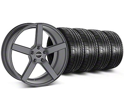 MMD 551C Charcoal Wheel & Mickey Thompson Tire Kit - 20x8.5 (15-17 All)
