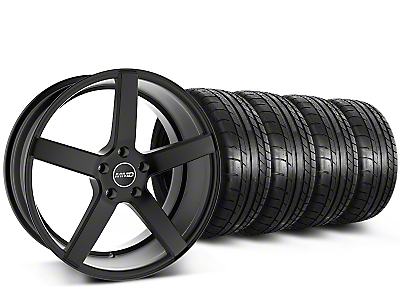 MMD Staggered 551C Black Wheel & Mickey Thompson Tire Kit - 20x8.5/10 (15-16 All)