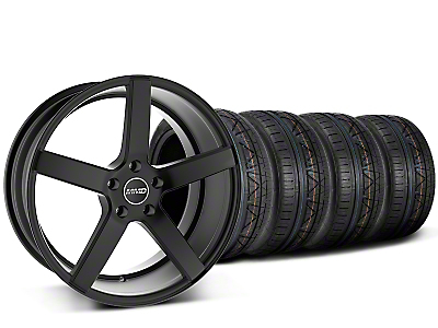 Staggered MMD 551C Black Wheel & NITTO INVO Tire Kit - 20x8.5/10 (15-17 All)