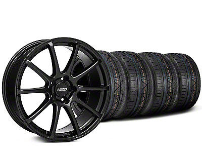 MMD Staggered Axim Gloss Black Wheel & NITTO INVO Tire Kit - 20x8.5/10 (15-16 All)