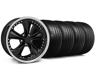 Foose Nitrous Black Wheel & Falken Tire Kit - 18x9 (99-04 All)