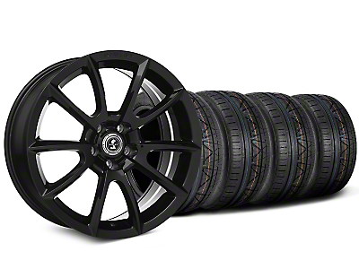 Staggered Shelby Super Snake Style Black Wheel & NITTO INVO Tire Kit - 20x9/10 (15-17 All)