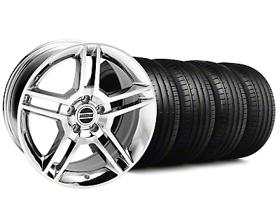2010 GT500 Style Chrome Wheel & Falken Tire Kit - 18x9 (99-04 All)