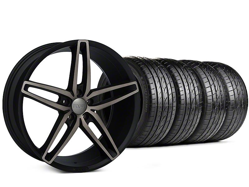 Foose Stallion Double Dark Wheel & Sumitomo Tire Kit - 20x8.5 (15-16 All)
