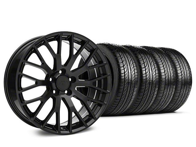 Staggered 2015 Mesh GT Style Black Mustang Wheel & Pirelli ...