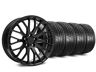Staggered Performance Pack Style Black Wheel & Mickey Thompson Tire Kit - 19x8.5 (15-17 All)