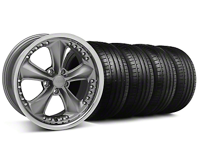 Foose Nitrous Grey Wheel & Falken Tire Kit - 18x9 (99-04 All)