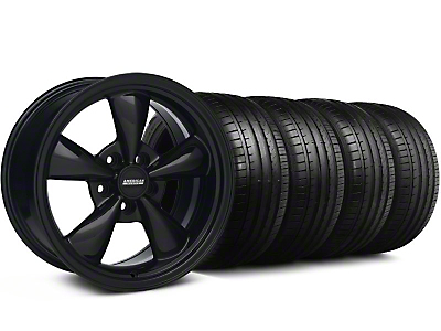 Deep Dish Bullitt All Matte Black Wheel & Falken Tire Kit - 18x9 (99-04 All)
