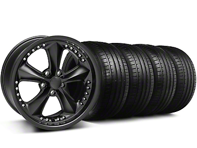 Foose Nitrous Matte Black Wheel & Falken Tire Kit - 18x9 (99-04 All)