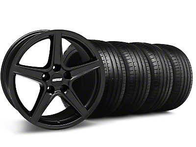 Saleen Style Matte Black Wheel & Falken Tire Kit - 18x9 (99-04 All)