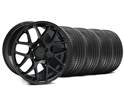 Staggered AMR Black Wheel & Sumitomo Tire Kit - 20x8.5/10 (15-17 All)