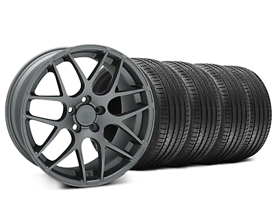 Staggered AMR Charcoal Wheel & Sumitomo Tire Kit - 20x8.5/10 (15-16 All)