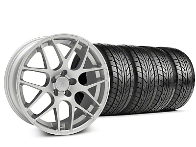 Staggered AMR Silver Wheel & NITTO Tire Kit - 20x8.5/10 (15-16 All)
