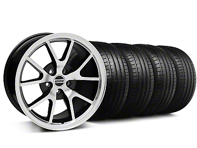 FR500 Style Black Machined Wheel & Falken Tire Kit - 18x9 (05-14 All)