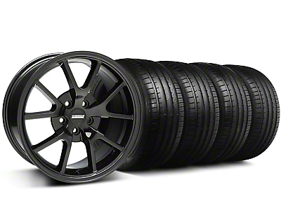 FR500 Style Gloss Black Wheel & Falken Tire Kit - 18x9 (05-14 All)