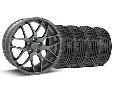 Staggered AMR Charcoal Wheel & Sumitomo Tire Kit - 19x8.5/10 (15-17 All)