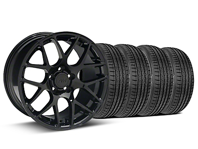 Staggered AMR Black Wheel & Sumitomo Tire Kit - 19x8.5/10 (15-16 All)