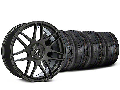 Staggered Forgestar F14 Monoblock Gunmetal Wheel & NITTO INVO Tire Kit - 19x9/11 (15-17 All)
