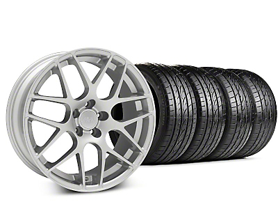 Staggered AMR Silver Wheel & Sumitomo Tire Kit - 19x8.5/10 (15-16 All)