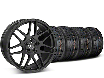 Staggered Forgestar F14 Monoblock Matte Black Wheel & NITTO INVO Tire Kit - 19x9/11 (15-16 All)