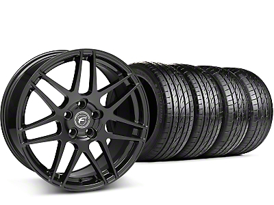 Staggered Forgestar F14 Piano Black Wheel & Sumitomo Tire Kit - 19x9/10 (15-16 All)