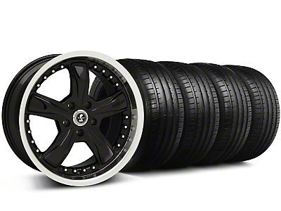 Shelby Razor Black Wheel & Falken Tire Kit - 18x9 (05-14 All)