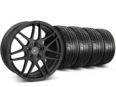 Staggered Forgestar F14 Monoblock Matte Black Wheel & Mickey Thompson Tire Kit - 19x9/10 (15-16 All)