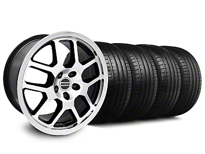 2007 GT500 Black Machined Wheel & Falken Tire Kit - 18x9.5 (05-14 All)