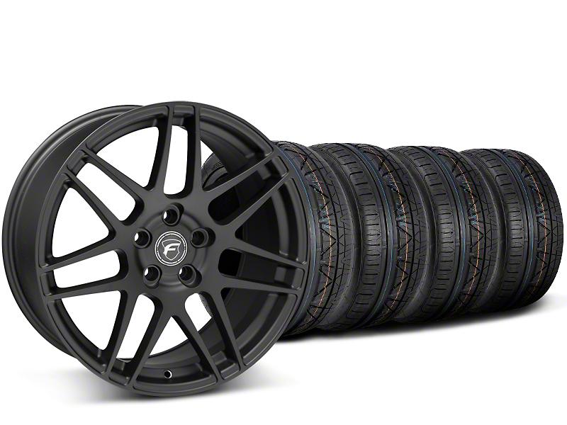 Forgestar F14 Monoblock Matte Black Wheel & NITTO INVO Tire Kit - 19x9 (15-17 All)
