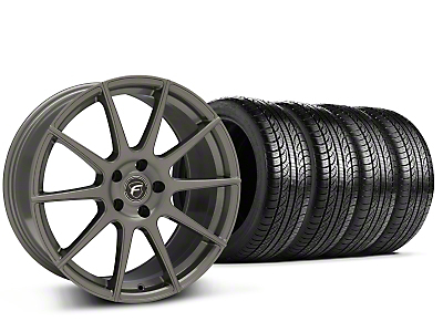 Forgestar CF10 Monoblock Gunmetal Wheel & Pirelli Tire Kit - 19x9 (15-16 All)