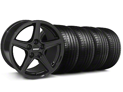 Saleen Style Black Wheel & Falken Tire Kit - 19x8.5 (05-14 GT, V6)