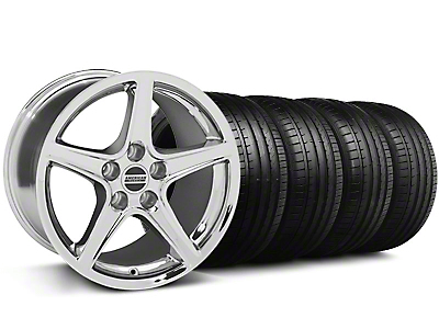 Saleen Style Chrome Wheel & Falken Tire Kit - 19x8.5 (05-14 GT, V6)