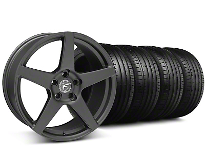 Forgestar CF5 Monoblock Matte Black Wheel & Falken Tire Kit - 19x9 (05-14 All)