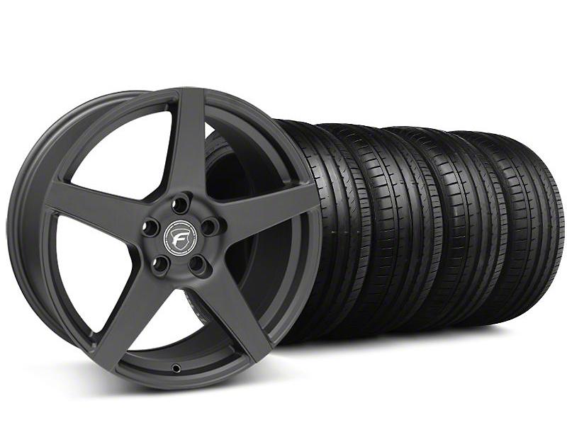 Forgestar CF5 Monoblock Matte Black Wheel & Falken Tire Kit - 19x9 (05-14 All)