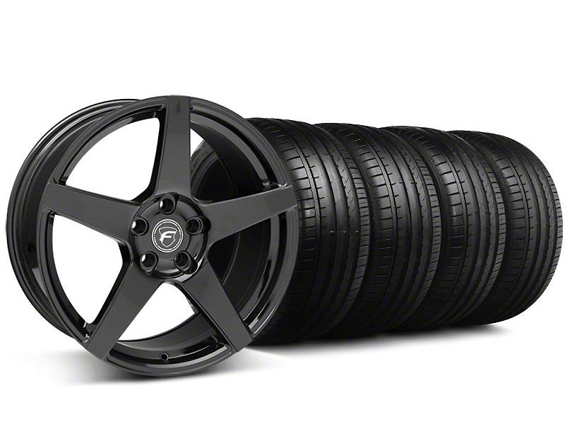 Forgestar CF5 Monoblock Gloss Black Wheel & Falken Tire Kit - 19x9 (05-14 All)
