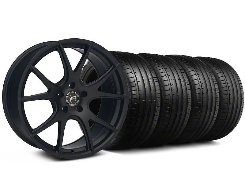 Forgestar CF5V Monoblock Matte Black Wheel & Falken Tire Kit - 19x9 (05-14 All)
