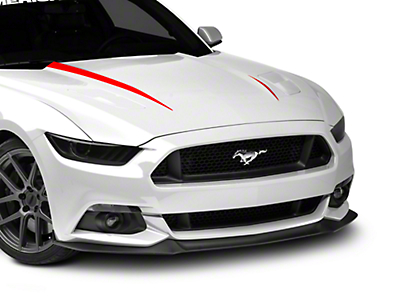 Hood Accent Decal - Red (15-16 All)