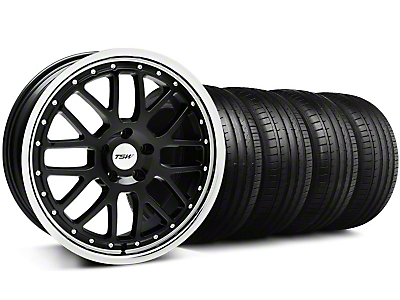 TSW Valencia Black w/ Polished Lip Wheel & Falken Tire Kit - 20x8.5 (05-14 All)