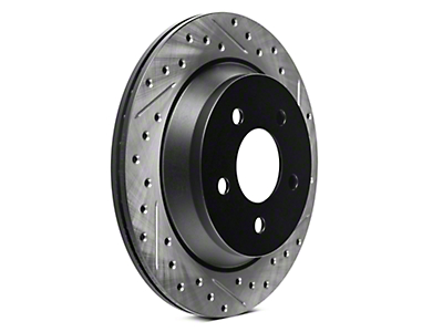 StopTech Sport Cross-Drilled & Slotted Rotors - Rear Pair (94-04 Bullitt, Mach 1, Cobra)