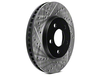 StopTech Sport Cross-Drilled & Slotted Rotors - Front Pair (05-10 V6)