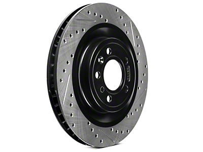 StopTech Sport Cross-Drilled & Slotted Rotors - Front Pair (11-14 GT)