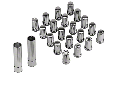 McGard Tuner Style Lug Nut Kit w/ Locks - Chrome (79-14 All)