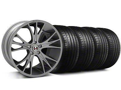 Shelby CS1 Gunmetal Wheel & Falken Tire Kit - 20x9 (05-14 All)