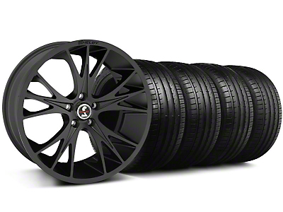 Shelby CS-1 Matte Black Wheel & Falken Tire Kit - 20x9 (05-14 All)