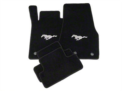 Lloyd Black Floor Mats - Pony Logo (13-14 All)
