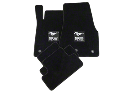 Lloyd Black Floor Mats - 50th Anniversary Logo (13-14 All)