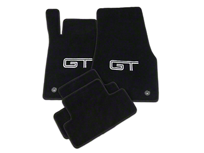Lloyd Black Floor Mats - Silver & Black GT Logo (13-14 All)
