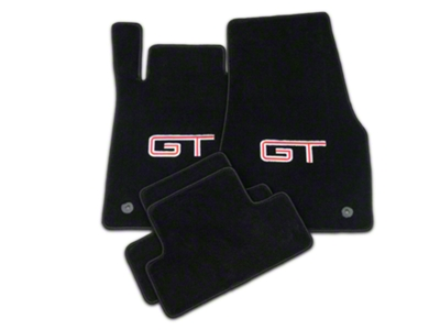 Lloyd Black Floor Mats - Silver & Red GT Logo (13-14 All)